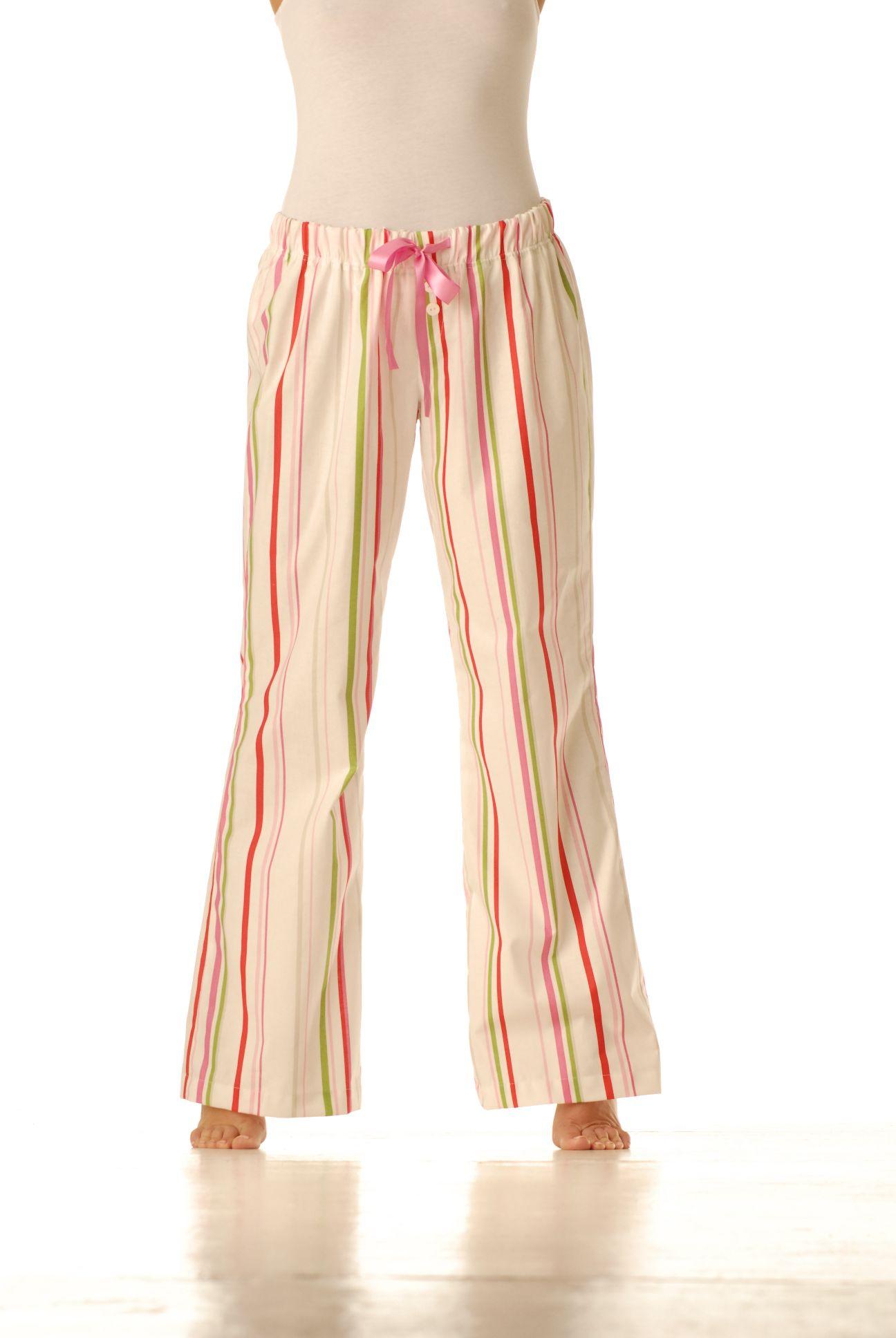 Domácí kalhoty – Stripe zelený